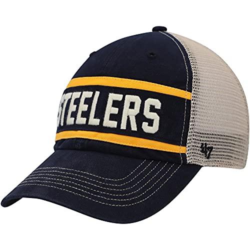 '47 Pittsburgh Steelers Vintage Black Juncture Clean UP Trucker MESH HAT
