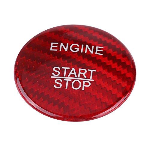 KIMISS ki06268 bouton d'arrêt du moteur pour démarrage en fibre de carbone Finition du couvercle pour classe a b c gLC Gla CLA ML GL default