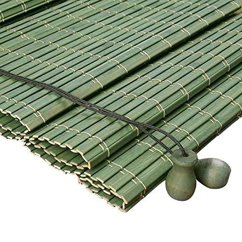 Zairmb Ecological Persianas De Caña Estores de Bambú Personalizable Sunshade Persianas Enrollables de Partición Protector Solar con cordón para Exterior interior-100x200cm RE. 🔥