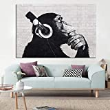 wZUN Mono Lienzo Pintura Pared Arte música Animal decoración Imagen decoración del hogar 60x80 Sin Marco