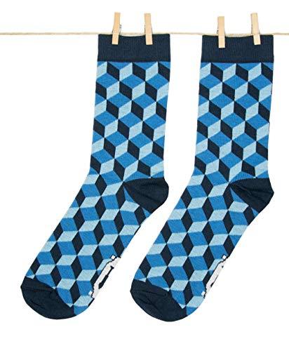 Roits 3D Blau 36-40 - Damen Socken Originell