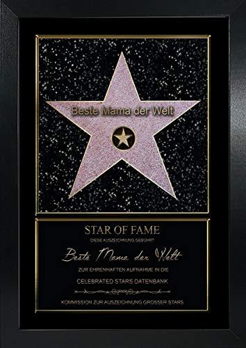 Personalisierter Hollywood Stern im Walk of Fame Stil Star of Fame Urkunde Familie Freunde: Motiv 01