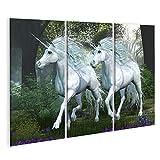 islandburner Bild Bilder auf Leinwand Unicorn ULM Forest -