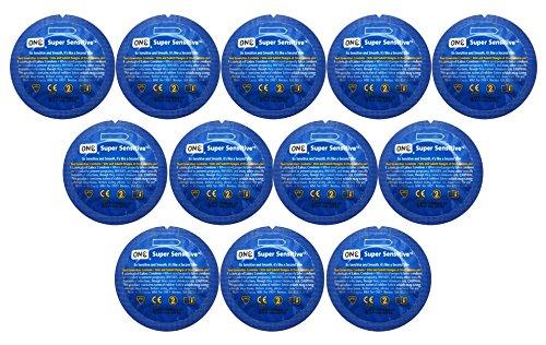 ONE Super Sensitive Lubricated Latex Condoms Bulk [So sensitive and smooth] - 100 Latex Condoms