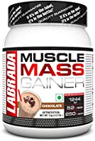 Labrada Muscle Mass Gainer (Gain Weight, Post-Workout, 52g Protein, 250g Carbs,1g Creatine, 500mg L-Carnitine, 3...