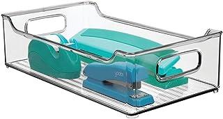 mDesign stor förvaringslåda med inbyggda handtag – för förvaring i kök, badrum eller av kontorsutrustning – plastlåda för ...