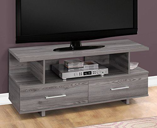 Monarch Specialties TV Stand, Grey,
