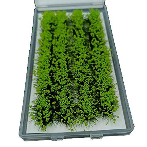 IGOSAIT Chic EIN Blatt Langer Blütenstreifen-Cluster-Künstliche Blumen-Büschel-Modell Szenerie-Eisenbahn-Kriegsgame-PJ07 Anmutig (Color : Green)