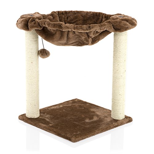 COZY PET Deluxe Cat Tree with Extra Large Hammock Scratcher Activity Centre Scratching Post Toys Cat Trees in Chocolate CT12-Choc. (We do not ship to the Channel Islands or The Isles of Scilly.)