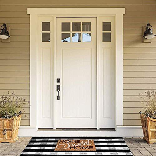 Black and white farmhouse rug