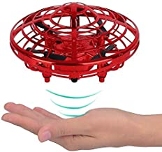 $22 » TYZEST Flying Toys, Hand Operated Drones for Kids & Adults, with 360° Rotating and Shinning LED Lights, Easy Indoor Small Orb Flying Ball Drone Toys for Boys or Girls (Red)