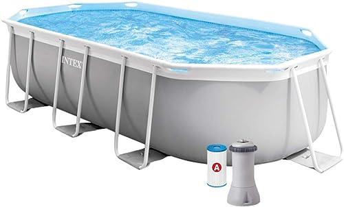 INTEX Kit piscine Prism Frame ovale 4.00 x 2.00 x 1.00 m