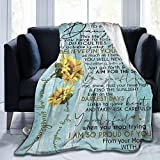 Muilti-Styles to My Daughter Love Mom Blanket Throw Fleece Flannel Lightweight Bed Quilt Home Decor Couch Chair Sofa Living Room Carpet 50'X40' Blanket for Kids