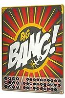 カレンダー Perpetual Calendar Nostalgic Motif Big Bang Tin Metal Magnetic