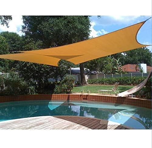 LIUNA Toldo Vela de Sombra Rectangular 2 x 4 m, protección Rayos UV Impermeable para Patio, Exteriores, Jardín, Toldo Sol Sombreado Sombra Shade Paño, Sombrilla De Sun Shade, Sun Shel(Size:1.12x7.62m)