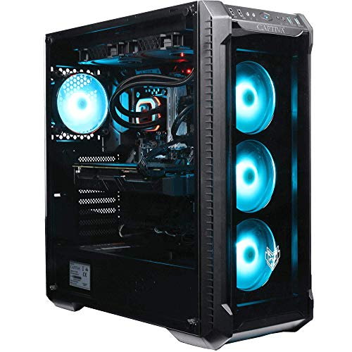 Captiva Advanced Gaming R55-685 Gaming PC | AMD Ryzen 5 3600 | GTX 1660 SUPER 6GB | 16GB DDR4 RAM | SSD 500GB M.2 | HDD 1TB | RGB Lüfter | Wasserkühlung | Windows 10 Home | PC Spiele