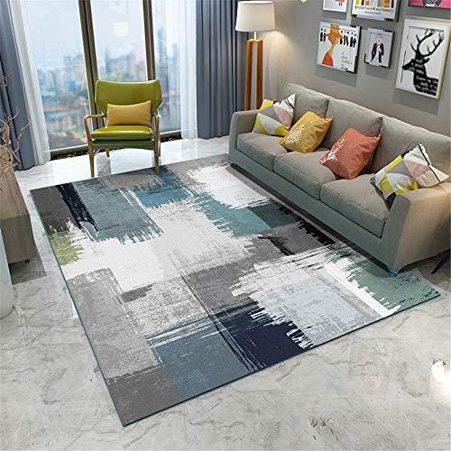 alfombra carretera alfombras grandes La alfombra del salón es gris y azul, resistente a la suciedad, el desgaste, el color y la deformación. antideslizante para alfombras 180X280CM 5ft 10.9'X9ft 2.2'
