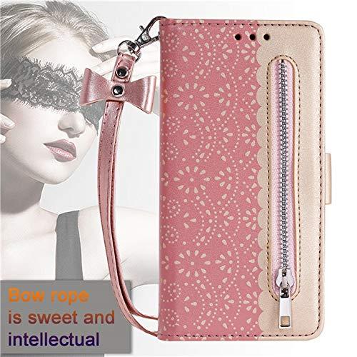 Xingyue Aile Covers y Fundas Para iPhone 12/12 PRO / 12 PRO MAX 12 MI-NI, Zipper Wallet Funda de billetera de lujo Slots de tarjetas de cuero Flip Tapas de bolsas Para iPhone 12 MI-NI 11 Pro Max