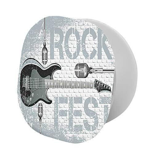 Foldable Cell Phone Stand,Grunge Color Splashed Brick Wall Background Electronic Guitar Mics Design,Adjustable Mobile Phone Holder