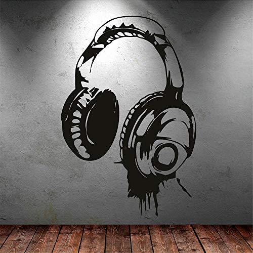 Kopfhörer Musik DJ Wandaufkleber Art Design Wandtattoo In Verschiedenen Farben Erhältlich Tapete Dekor Kinder Schlafzimmer Wandbild 40 * 60 CM