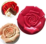 FantasyDay 11' Rose Flower Birthday Cake Mold Silicone Cake Baking Pan/Silicone Mold for Anniversary Birthday Cake, Loaf, Muffin, Brownie, Cheesecake, Tart, Pie, Flan, Bread and More #1