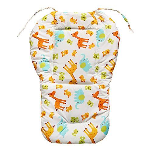 XIAMUSUMMER - Cochecito suave y reversible de algodón puro para bebé, silla de coche, silla de bebé, funda universal para cochecito de bebé, tamaño 47 x 67 cm, incluye cojín jirafa