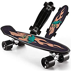 4. WhiteFang 22″ Kids Dinosaur Skateboard with Colorful PU Wheels