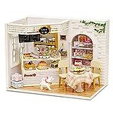 La Vida en Led DIY Pastelería Casa de Muñecas Cake Diary Puzzle 3D con Luz, Caja de Exposición y Toolkit