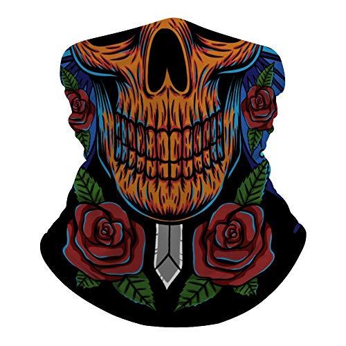 Foulard demi-squelette polyvalent pour le visage la bouche la bouche la tête de mort imprimé magique bandeau hippie cravate cache-cou protection contre la poussière et le soleil lr0tr2ndzpkq