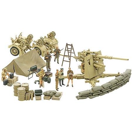 タミヤ 1/48 イタレリシリーズ No.09 ドイツ陸軍 88mm砲 FLAK37 トブルク攻防戦セット プラモデル 37009