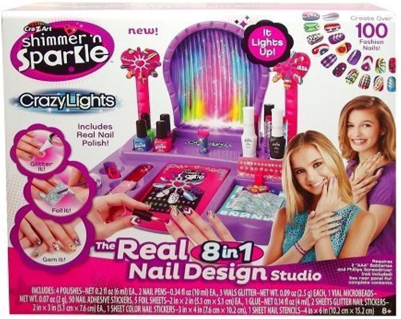 CraZArt Shimmer and Sparkle Crazy Lights Super Nail Salon Kit by Unknown