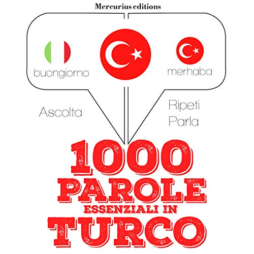 1000 parole essenziali in Turco audiobook cover art