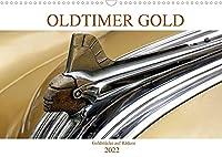OLDTIMER GOLD - Goldstuecke auf Raedern (Wandkalender 2022 DIN A3 quer): Goldene Oldtimer der Marke Pontiac in Havanna (Monatskalender, 14 Seiten )