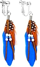 native american clip on earrings