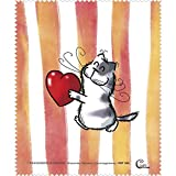 Brillenputztuch - Katze - 'Catzz - Von Herzen' 15x18cm