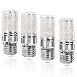 SanGlory E27 Bombilla LED, 9W E27 Tornillo Edison Bombillas, 80W Incandescente Bombillas Equivalentes, 950Lm, Blanco Cálido 3000K, E27 lámpara ahorro de energía, No regulable - 4 unidades