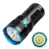 NIXKO Waterproof Tactical Flashlight 12x Cree XML T6 LED 10000 Lumen 3 Mode Flashlight Torch for Hiking, Camping, Hunting and Other Indoor or Outdoor Activities