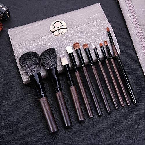 Maquillage Pinceau 26 Trousse de Beauté Professionnelle Pinceau Ombre à Paupières, 10 Laine de Santal