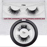 Eyelashes 3D Mink Lashes Curly Fluffy Lashes Crisscross Mink Eyelashes Invisible Band False Eyelashes Fluffy Lashes (F204)