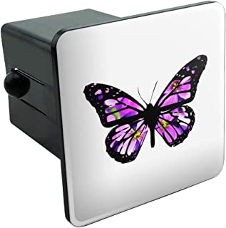 Graphics and More Butterfly with Flowers Tow Trailer Hitch Cover Plug Insert 2