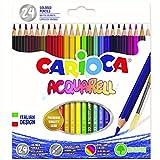 Carioca Acquarell - Caja de 24 lápices, multicolor