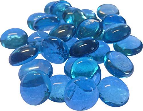Fliesenhandel Fundus 1kg Glasnuggets Premium Muggelsteine 17-22mm ca 200 STK (Petrol irisierend)