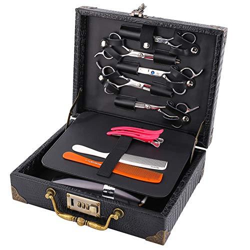 Professionelle Barber Travel Organizer Box mit Password Lock Retro Style Koffer für Haarsteilistung,Black,30x23x9.5cm