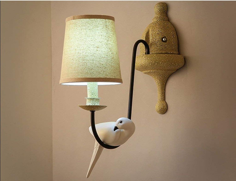 Wandleuchten Wandleuchte E14-5 W Nachttischlampe Garten Schlafzimmer Wand Lampe Hintergrund Wandleuchte Persnlichkeit Vogel Wandleuchte (Farbe  B-LED)