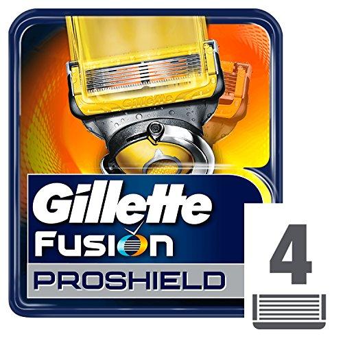Gillette Fusion ProShield Cuchillas de Afeitar Hombre, Paquete de 4 Cuchillas de Recambio