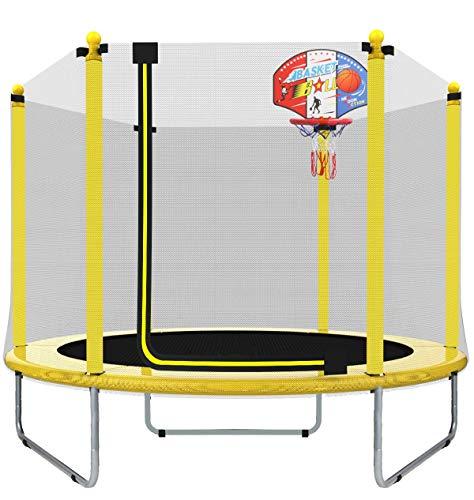 EUR POINT Trampolín para niños de 150 cm con recinto de Seguridad, resortes de Alta Resistencia de 36 Piezas - trampolín Ideal para el jardín para el Regalo de cumpleaños de los niños