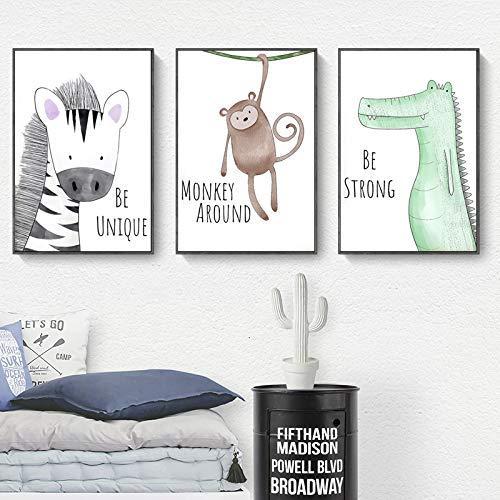 KTDT Kinderzimmer Dekoration Malerei Kinderzimmer Cartoon Hängende Malerei Kreative Kleintier Baby Schlafzimmer Wandbild