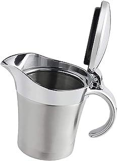 Oil Vinegar Pots Leak Proof Sauce Bottle Tableware Multi Functional Seasoning Dishware Gravy Boats Metal Steel Plastic Boats Saucer Warmer Ladle Insulated Disposable Stainless White Gravy
