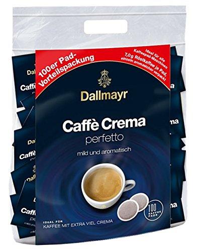 Dallmayr Caffè Crema Perfetto 100 Kaffeepads Vorteilspack, 1er Pack (1 x 700 g)