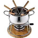 Style'n Cook Charlotte Fondue Set 11tlg, Edelstahl/Holz, 18 cm - 3